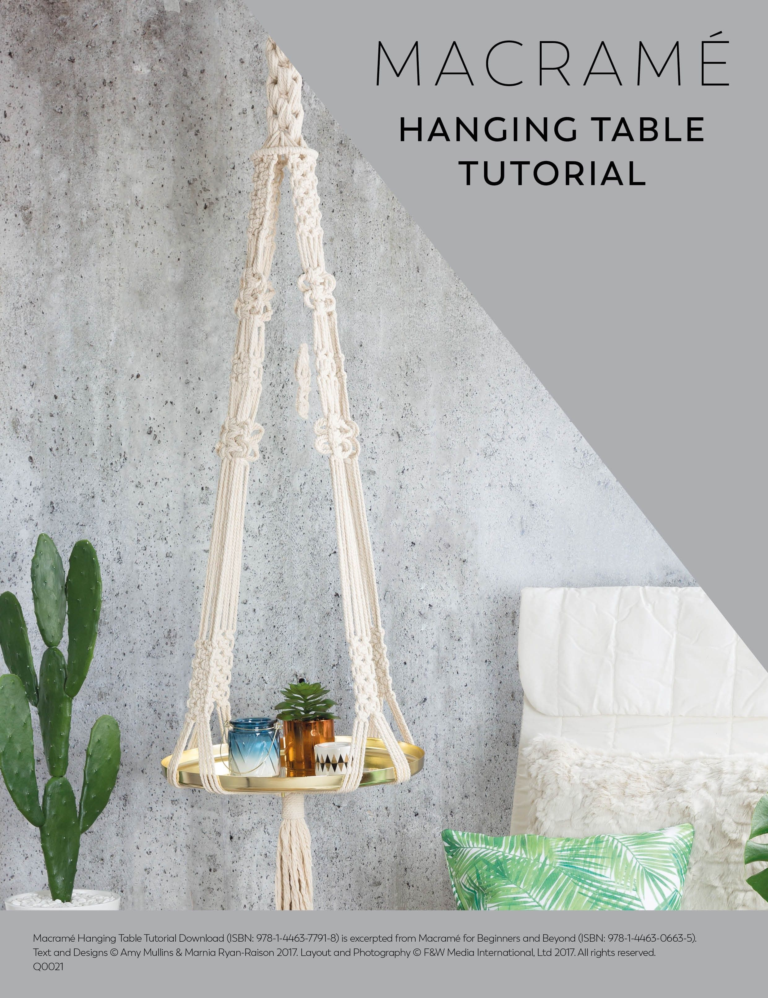 Create A Stylish Modern Macrame Hanging Table With This Tutorial