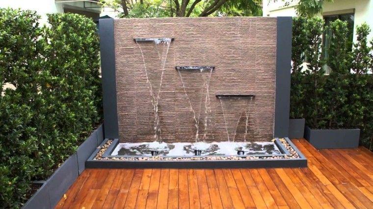 Cataratas y cascadas en el jardín - 75 ideas Jardín moderna