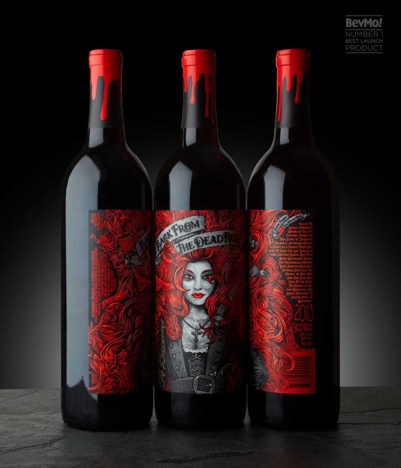 Back From The Dead Red Wine Bottle Design Red Wine Labels Wine