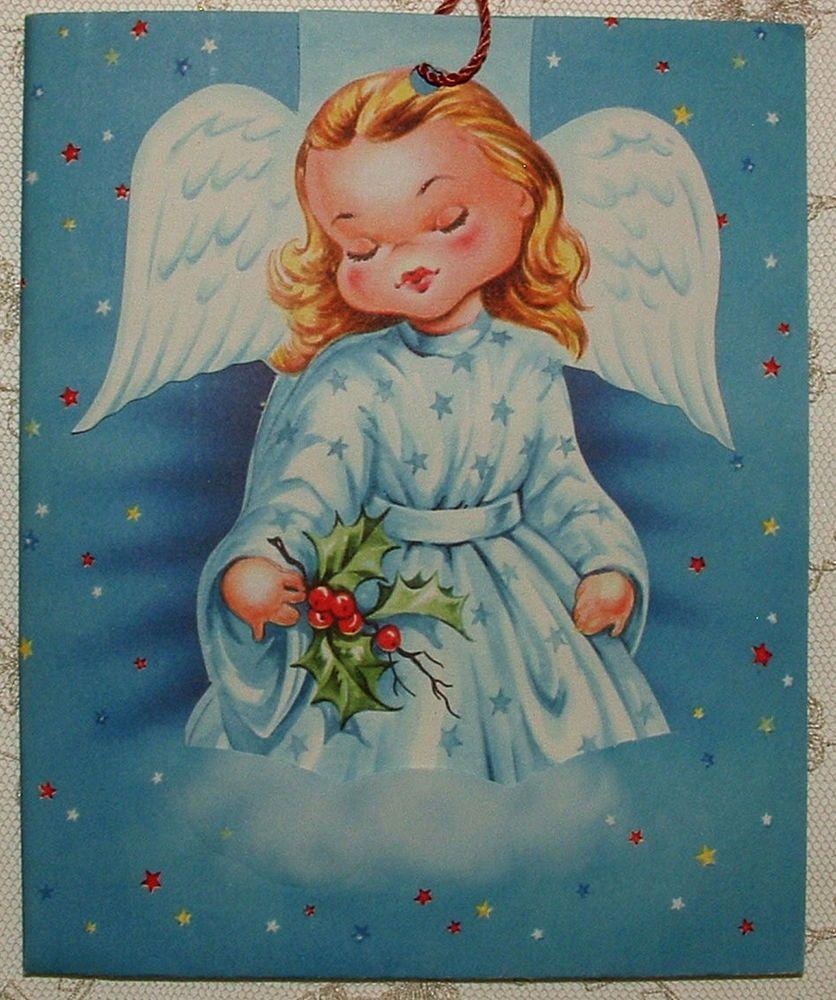 Unused Bonus Ornament Christmas Angel 1950s Vintage Greeting