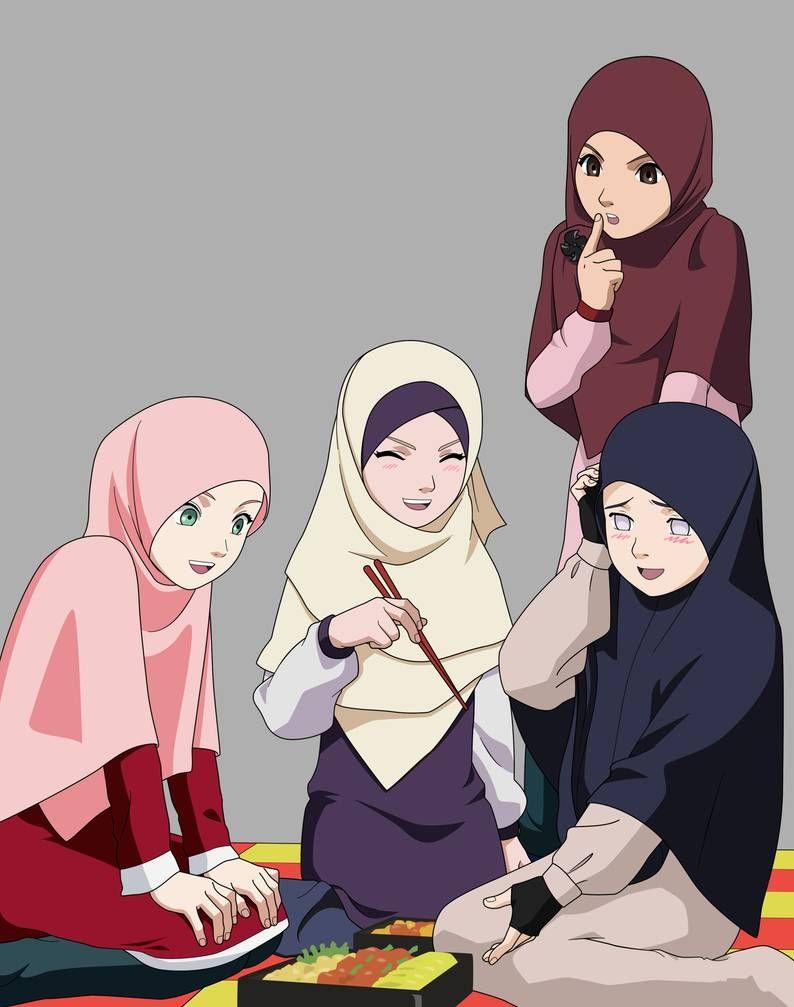 Gambar Kartun Muslimah 6 Sahabat Kartun Gambar Kartun Gambar