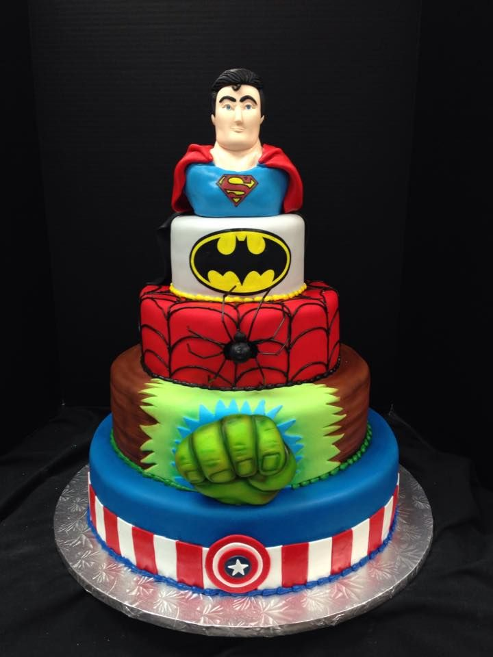 Superheroes The perfect birthday cake for someone who cant decide