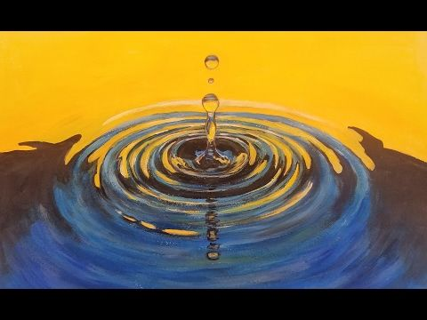 Learn To Paint Water Drop Ripples Live Acrylic Step By Step Free