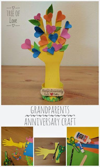 Handprint Tree Craft Paper Crafts Toddler Crafts Anniversary