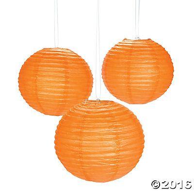 Orange Pumpkin Purée Paper Lanterns Cinderella Party  Gift Ideas