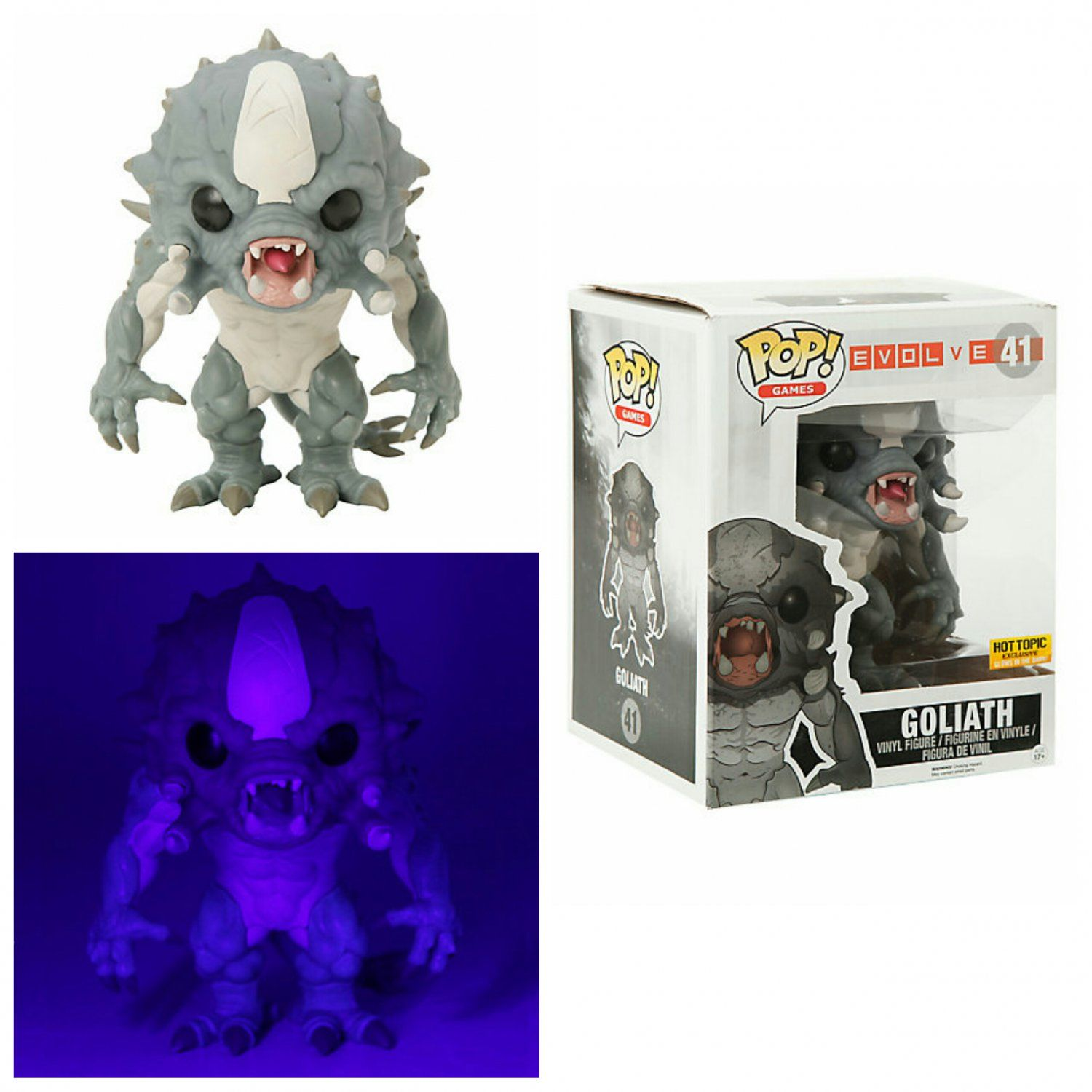 "Funko pop Goliath 41  6/"" from Evolve New in Box not opened."