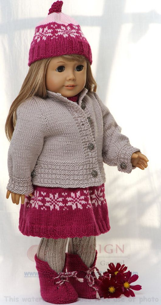 Doll Knitting Pattern For Great Everyday Clothes Dolls Pinterest