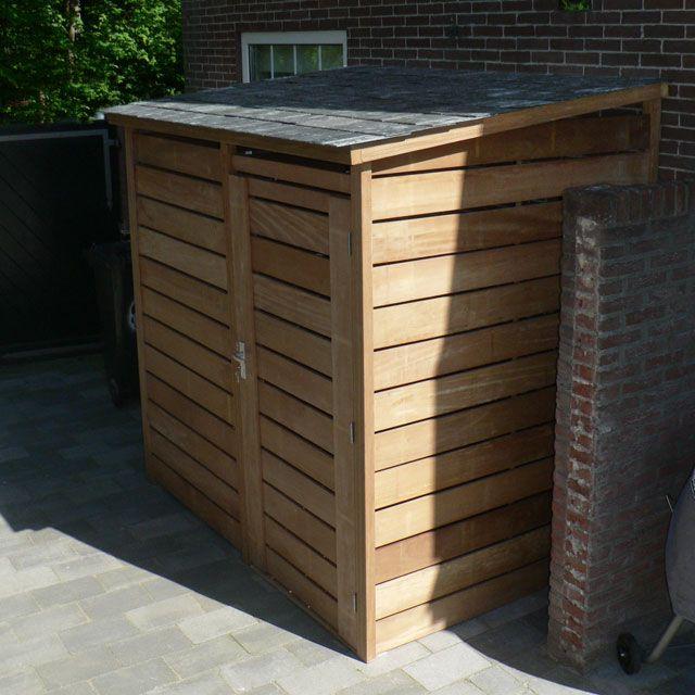 V lo fermant cl en bois dur d 39 ardoises jardin - Meuble fermant a cle ...