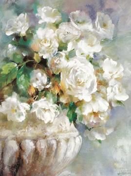 A Bunch Of White Flowers For The Home Pinterest Oil Painting