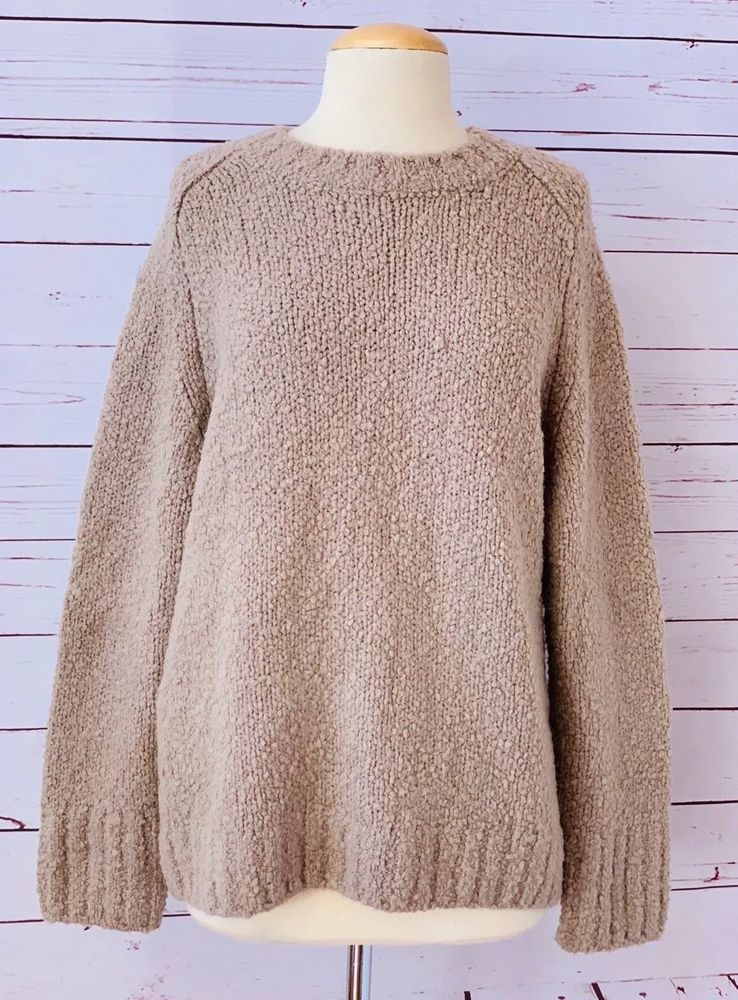 Details About Womens Brown Pullover Kenar Sweater 100 Italian
