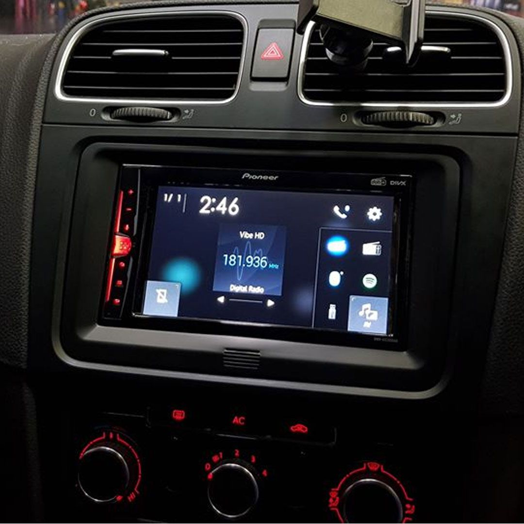 Pioneer Dmh A3300dab 6 2 Touch Screen Dab Android Iphone Weblink Bluetooth In 2020 Touch Screen Iphone Car Stereo