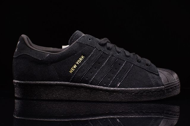 Adidas Mens Sneakers adidas New York shoes black grey