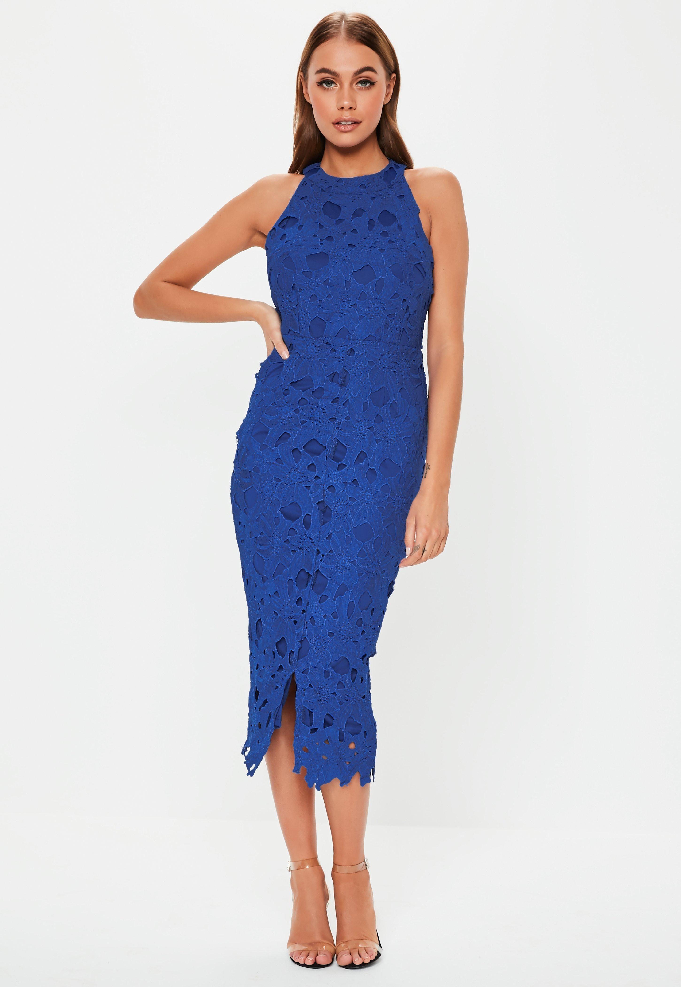 75dba814 Cobalt Blue Lace Halterneck Midi Dress #Sponsored #Lace, #ad, #Blue, #Cobalt