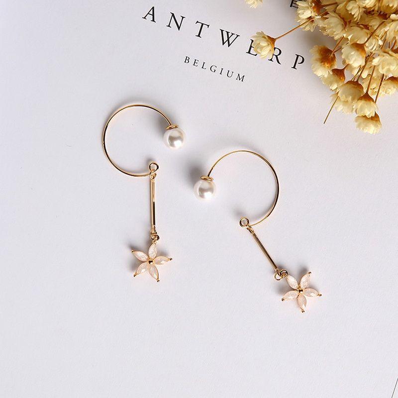 Vintage Flash Fashion Sweet Jewelry Earrings Rose Flower Korea Stud Earrings