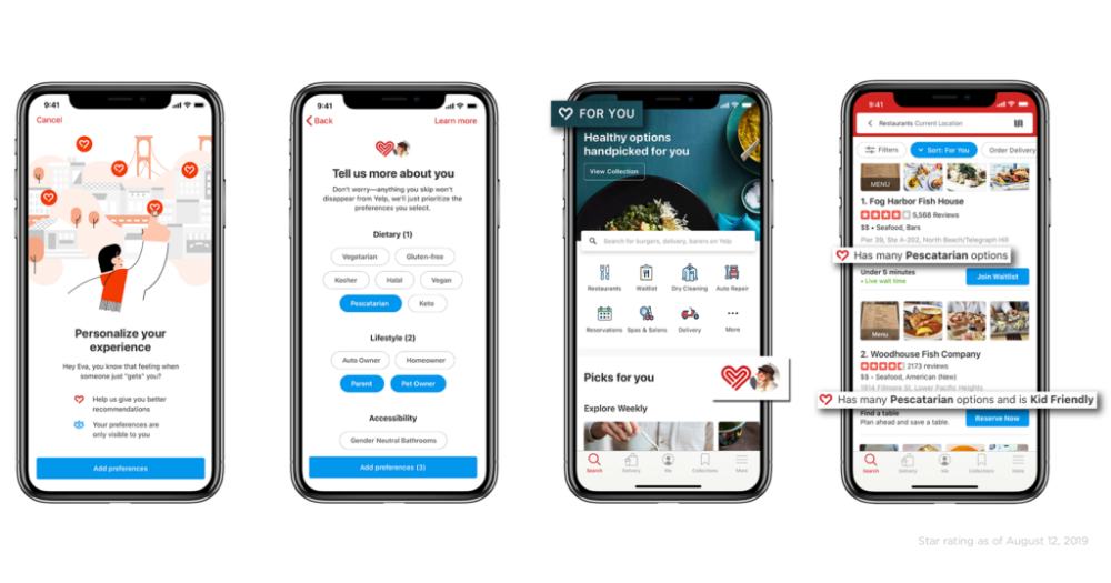 You Can Now Align the Yelp App to Your Lifestyle, Diet