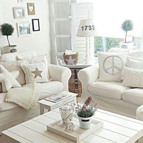 Elegant Kleine Wohnzimmer, Ich Lebe, Living Room Wohnzimmer, Landhaus,  Raumgestaltung, Neue Wohnung, Dekorieren, Weiss, Rund Ums Haus Nice Design