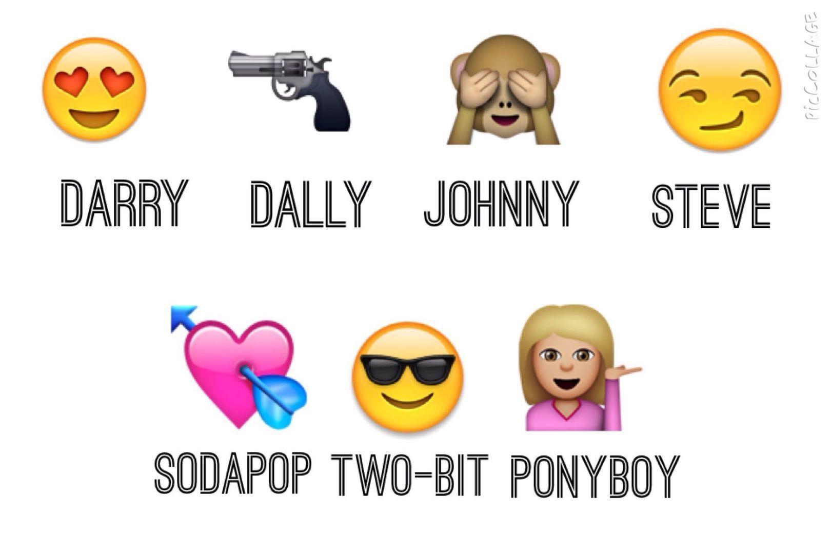 Outsider Emojis | The Outsiders | The outsiders, Darry