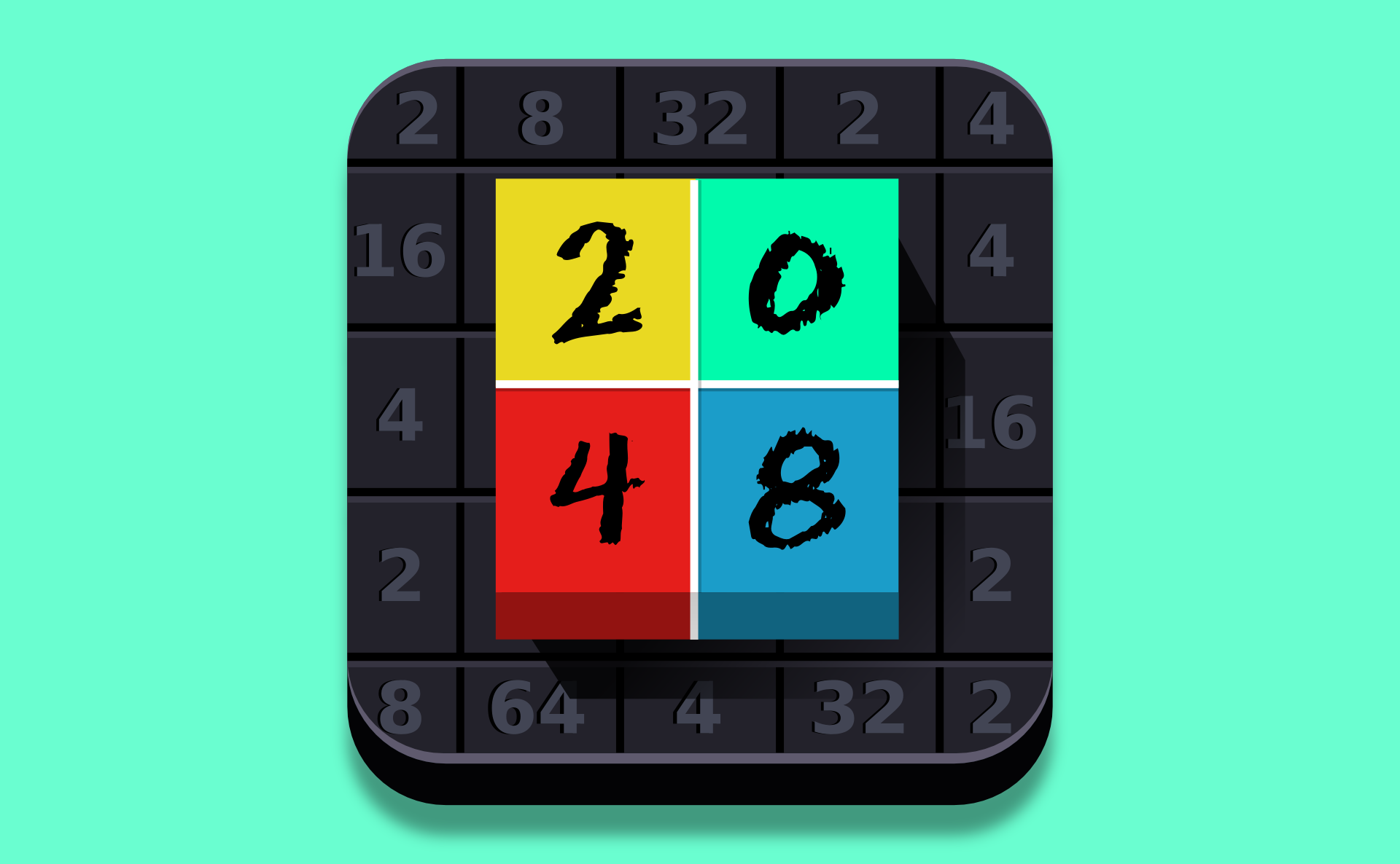 2048 Game Mobile app games, 2048 game, Gaming banner