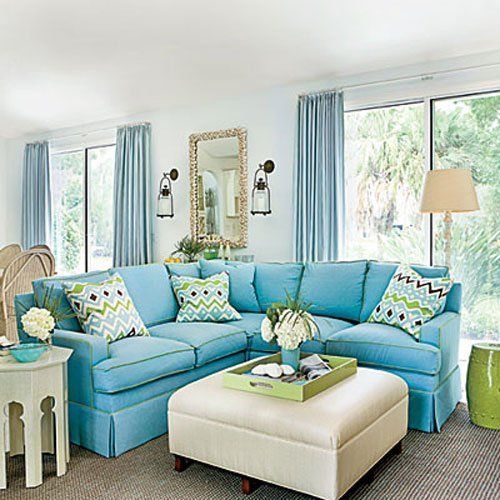 Charmant House Tour Coastal Florida Home, Home Decor, An Abundance Of Blue Appears  Prominently On Pillows And Walls While Rugs And Upholstered Furniture Keep  Things ...