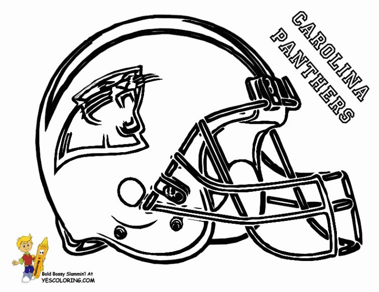 Carolina Panthers Football helmet coloring pages Sports Coloring