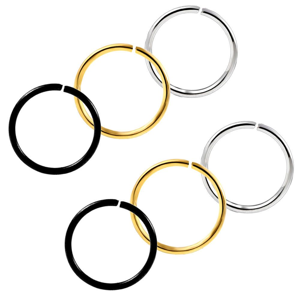 Body piercing jewelry  Cartilage Nose Hoop Seamless Hinged Segment Ring Fashion Body