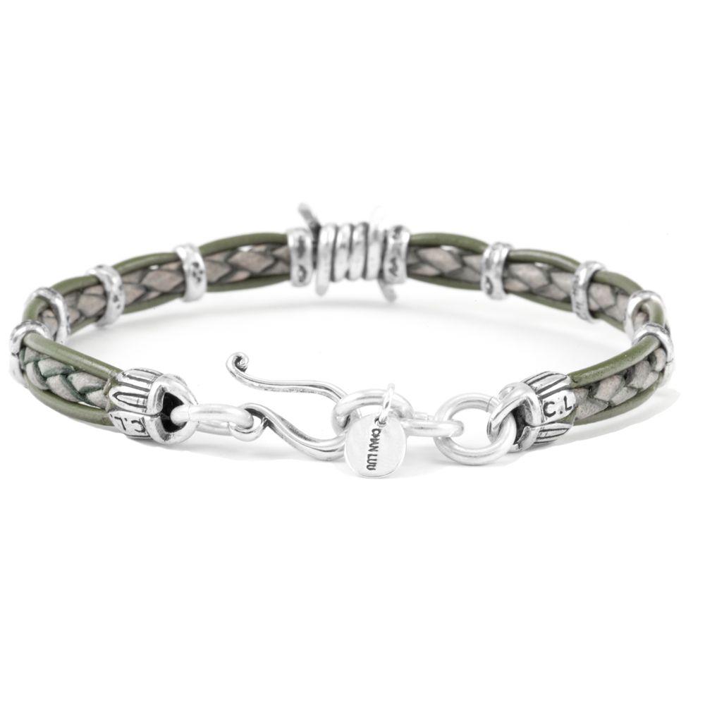 Green Mix Barbed Wire Single Wrap Bracelet | Wire, Bracelets and Men ...