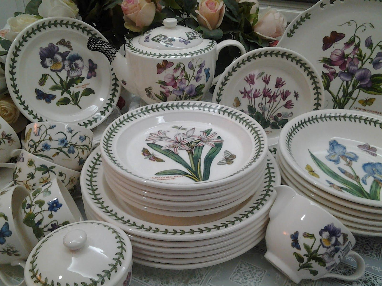 botanic  Dinner sets, Portmeirion pottery, Portmeirion