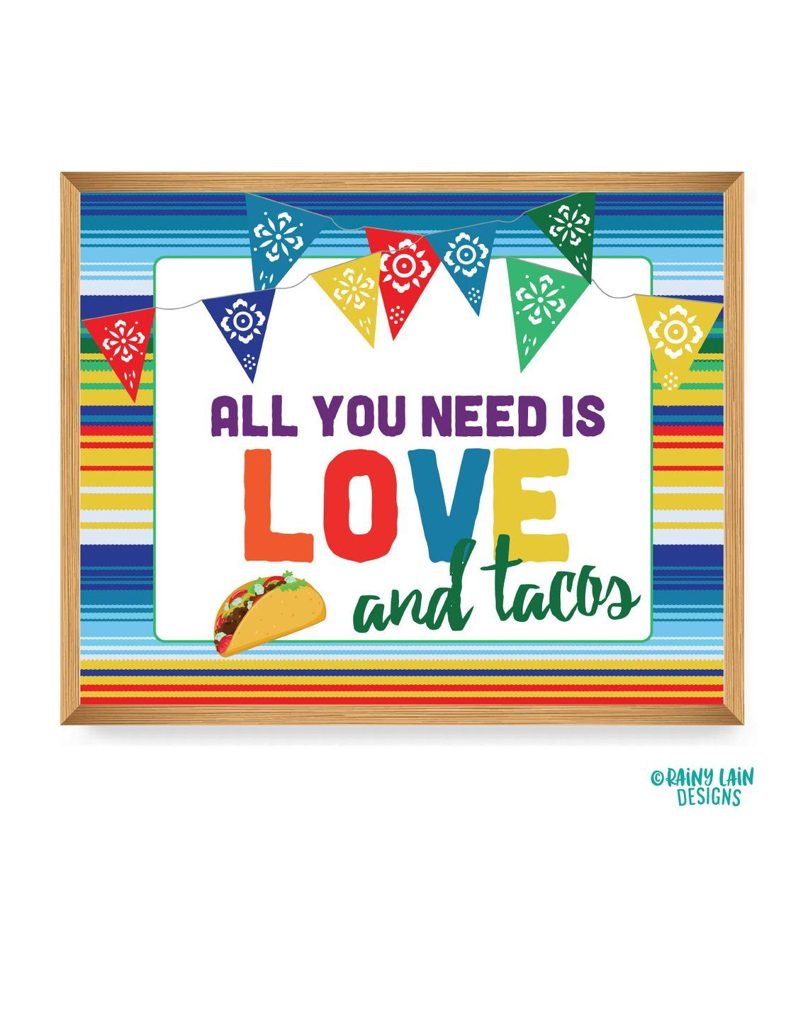 Taco Twosday Sign All You Need Is Love And Tacos Sign 1st Etsy All You Need Is Love Printable Signs Fiesta Decorations