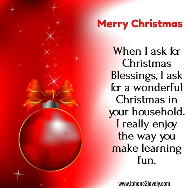 Christmas Greeting Wishes For Teachers Inspirational Christmas Message Wishes For Teacher Christmas Card Sayings
