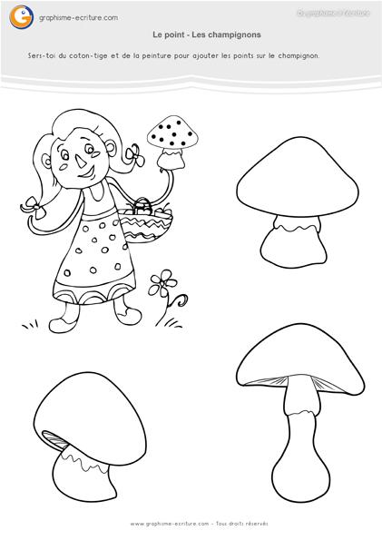 Gut gemocht graphisme-petite-section-maternelle- le-point-les-champignons  HY34