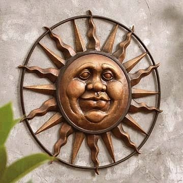 Outdoor Sun Wall Plaque | For the house | Pinterest | Moon and ...