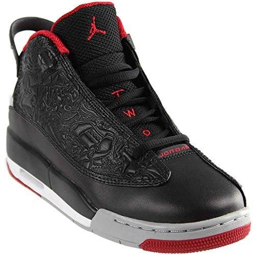 quality design fc8e1 d52f6 Nike Youth Air Jordan Dub Zero Boys Basketball Shoes Black Gym Red Wolf Grey