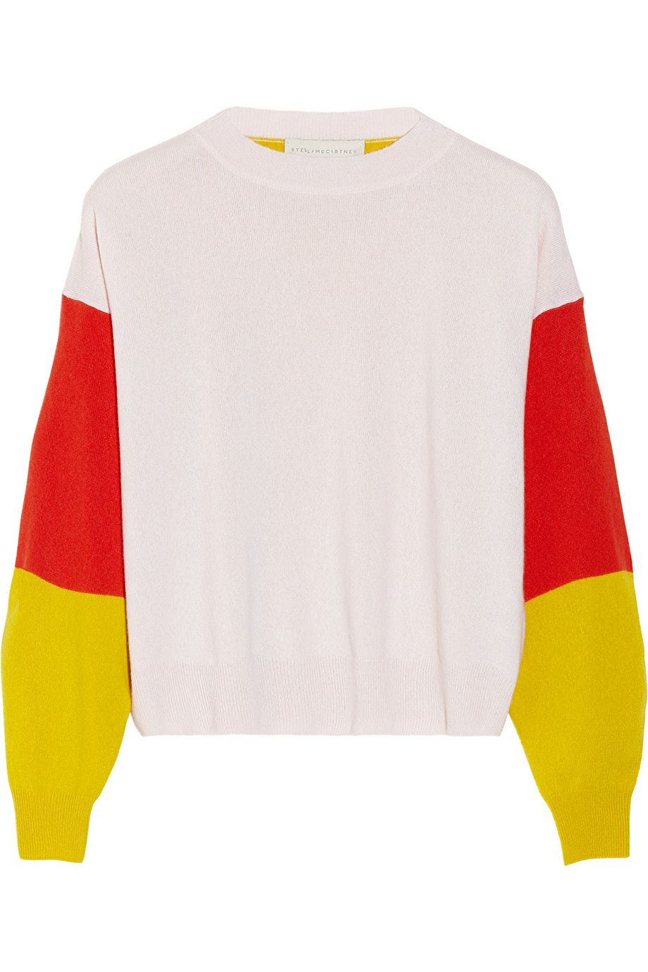 Stella McCartney | Color-block cashmere sweater | Yes, Please ...