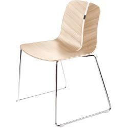 Lapalma Link Stuhl Kufengestell weiß lackiert weiß lackiert LaPalma