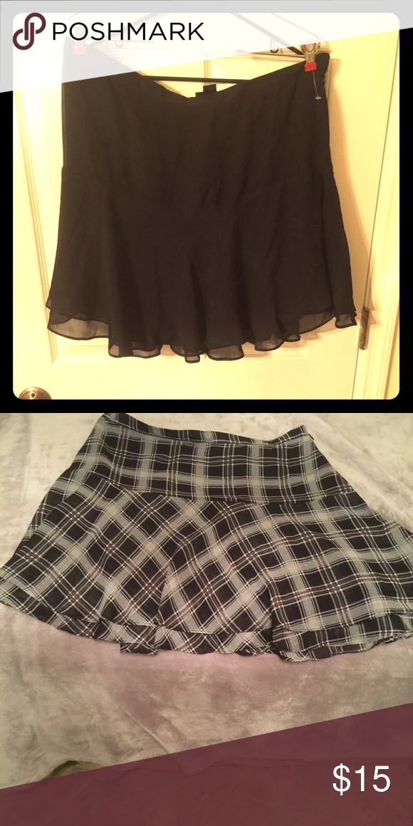ce2afcd350 Black skirt or grey plaid skirt Skirts with flare at bottom. Perfect for  fall with some leggings. Skirts Mini