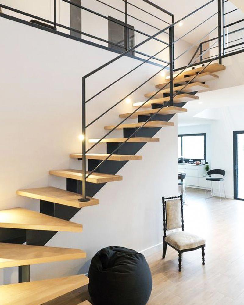 Adoptez Les Escaliers En Bois Et En Metal Pour Un Interieur Plus