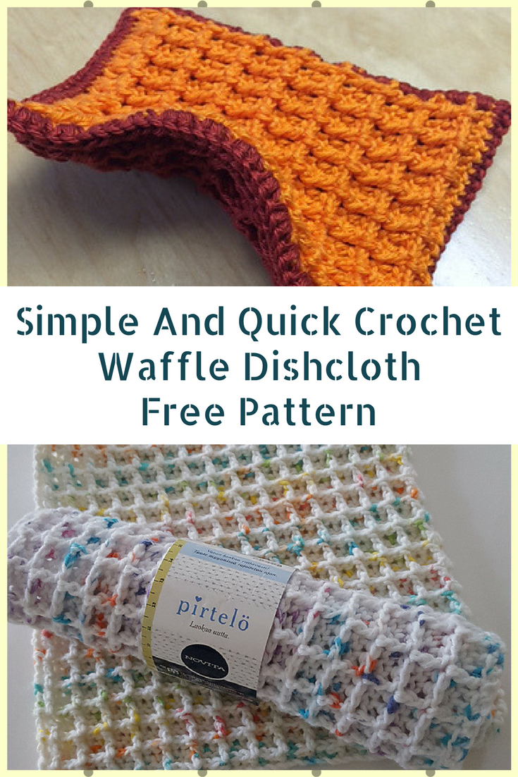 Simple And Quick Crochet Waffle Dishcloth Pattern To Make To Sell