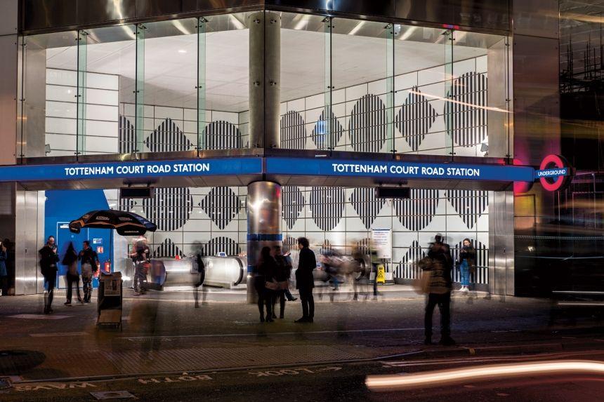 Daniel Buren S Artwork Of Shapes Colours And Trademark Stripes Launches At Tottenham Court Road Daniel Buren Buren Tottenham