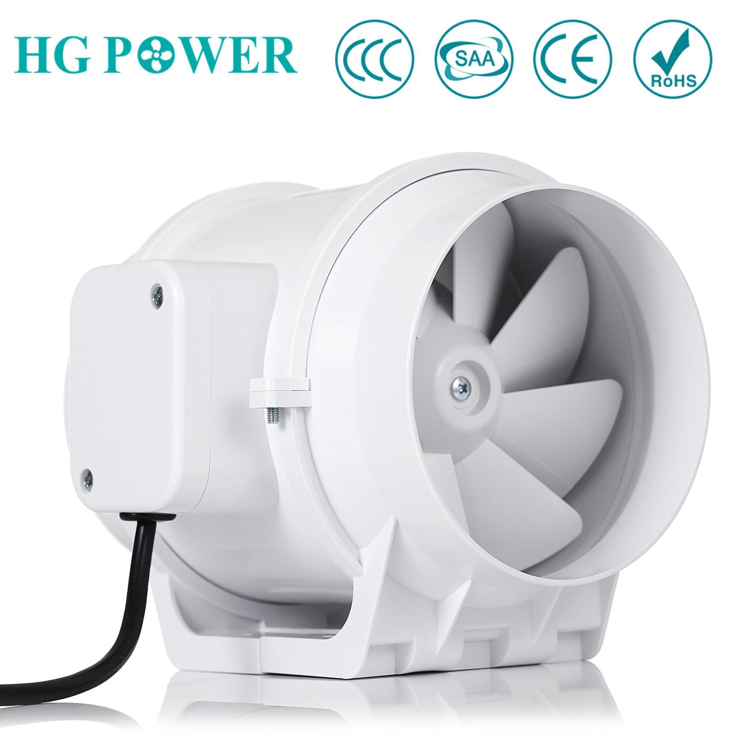 Free Ship 5 Home Silent Inline Duct Fan With Strong Ventilation System Air Extractor Fan For Kitchen Bathroom Boo Exhaust Fan Room Ventilation Extractor Fans