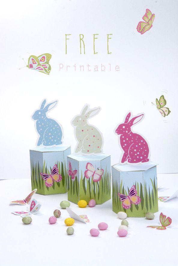 Petites boites pour pques free printable easter and box free printable easter gift box negle Choice Image