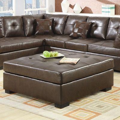 Wildon Home ® Newport Leather Ottoman  Den  Pinterest  Leather Magnificent Living Room Ottoman Decorating Design