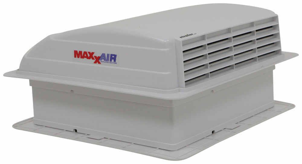 Maxxair Mini Deluxe Trailer Roof Vent W 12v Fan Powered 1 Speed White Maxxair Rv Vents And Fa Roof Vents Vent Light Roof