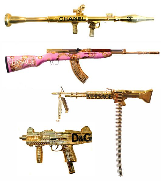 Peter Gronquis We Dream Of Ice Cream Pretty Guns Pink Guns Guns