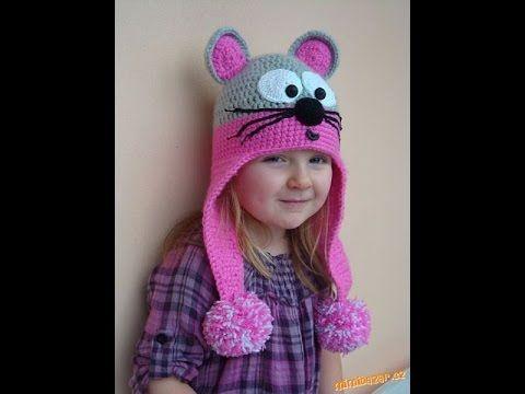 Bellos gorros para niña tejidos a crochet - YouTube  70c9a509291
