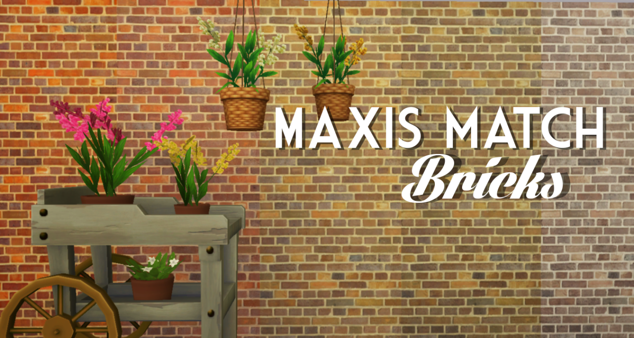 My Sims 4 Blog: Maxis Match Brick Wallpaper by GregariousGnomes
