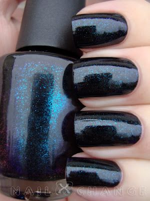 Opi Cosmo With A Twist Is Deep Purple Almost Black Jelly Filled Color Shifting Shimmer Flecks In And Blue Pinterest