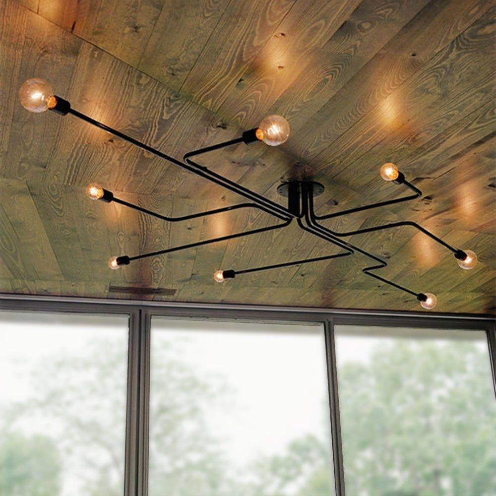 Flush Mount Lights Industrial Ceiling Lights Ceiling Light Design Diy Industrial Lighting