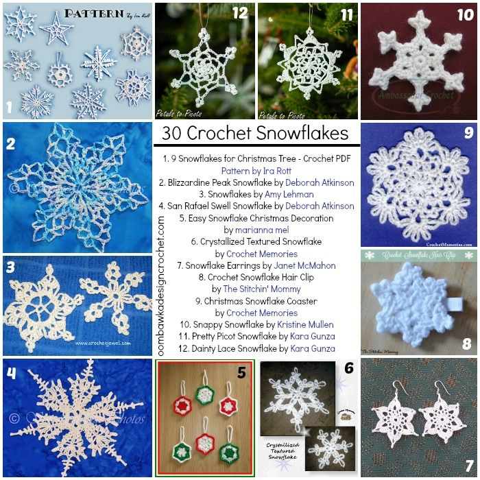 30 Free Snowflakes you can Crochet