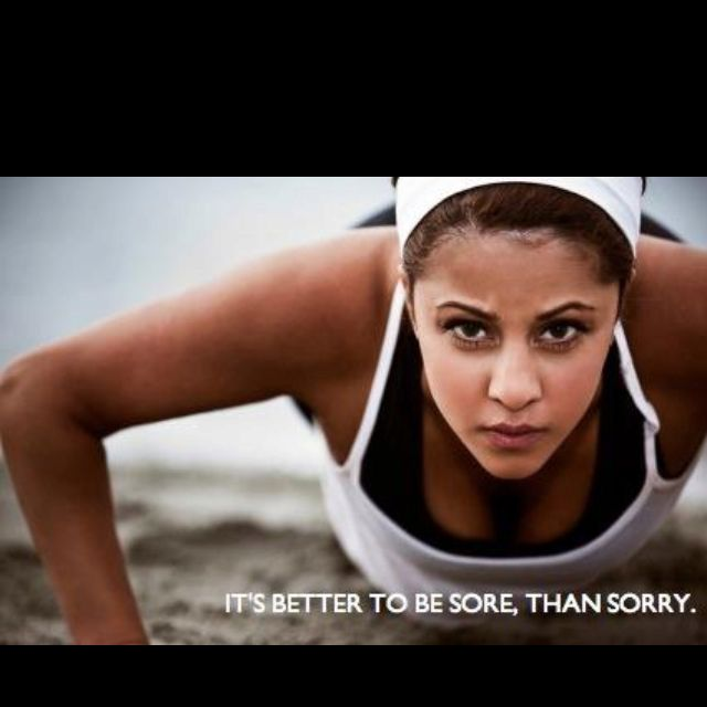 Better to be sore than sorry