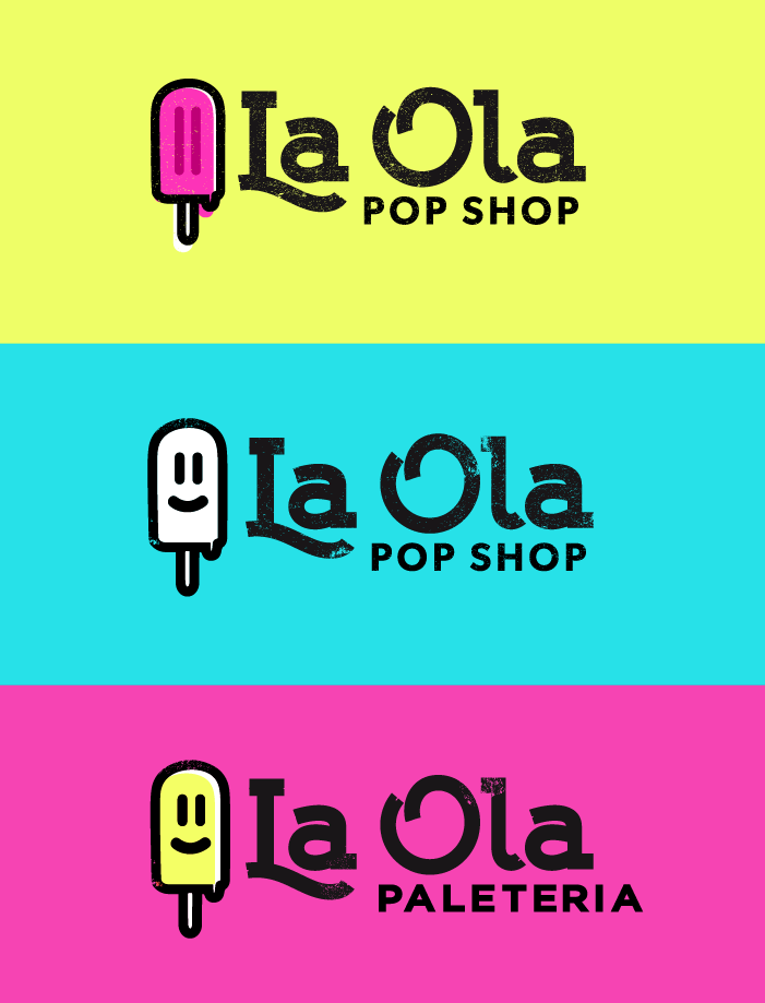 La Ola Pop Shop Logodesign Options For A Boutique Style Paleteria